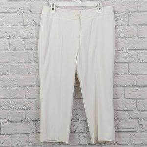 Talbots | White Cropped Straight Leg Casual Pants